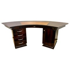 Art Deco French Macassar Desk
