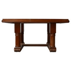 Art Deco French Midcentury Oak Dining Table
