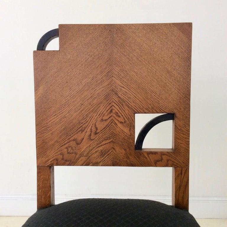 Art Deco French Oak Chair, circa 1930 For Sale 5