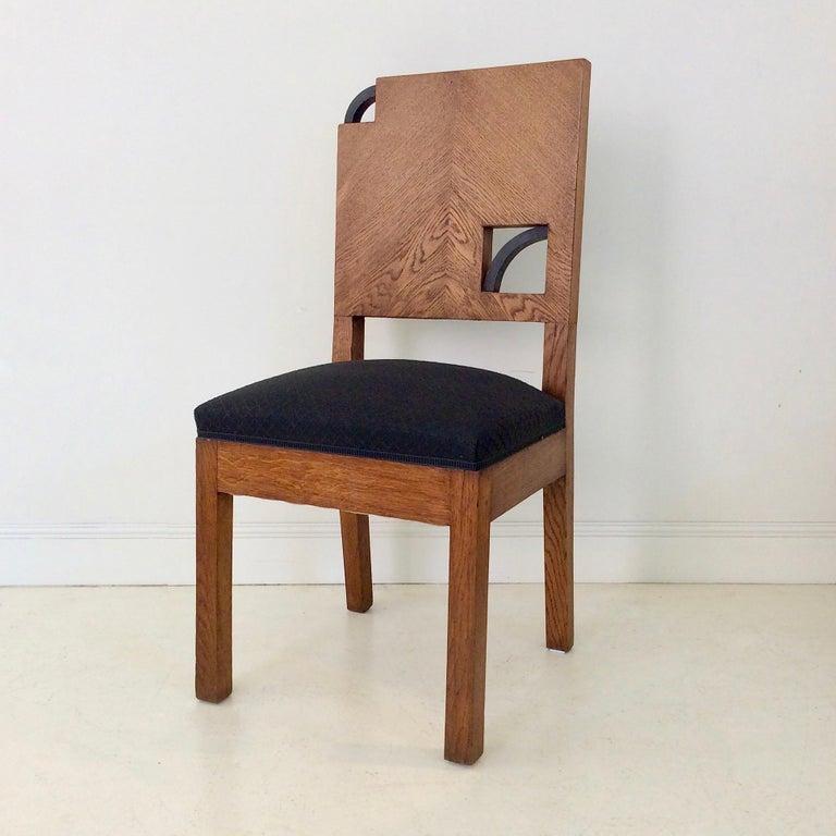 Art Deco French Oak Chair, circa 1930 For Sale 6