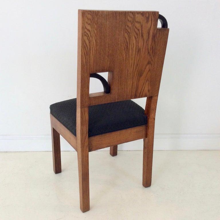 Art Deco French Oak Chair, circa 1930 For Sale 1