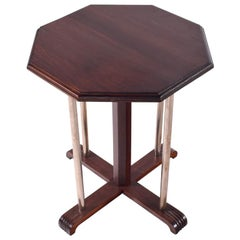 Art Deco French Octagonal Side Table, 1920