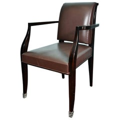 Art Deco French Office Chair in Macassar