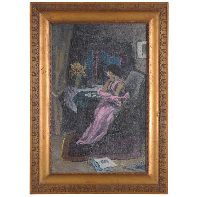 Art Deco French   Oil Painting