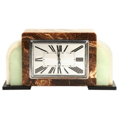 Art Deco French Onyx Clock