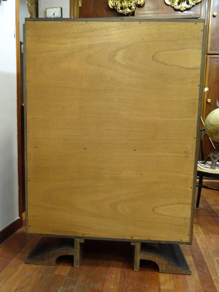 Art Deco French  E.J Ruhlmann Bookcase, Hardwood, Brass and Lemongrass For Sale 10