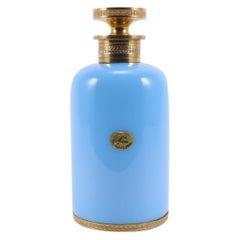 Art Deco French Sèvres-l.Seiler Light Turquoise Opaline  Perfume Bottle, 1920