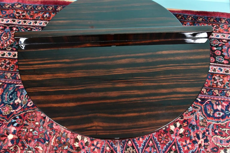 Art Deco French Side Table in Walnut with Chrome For Sale 2