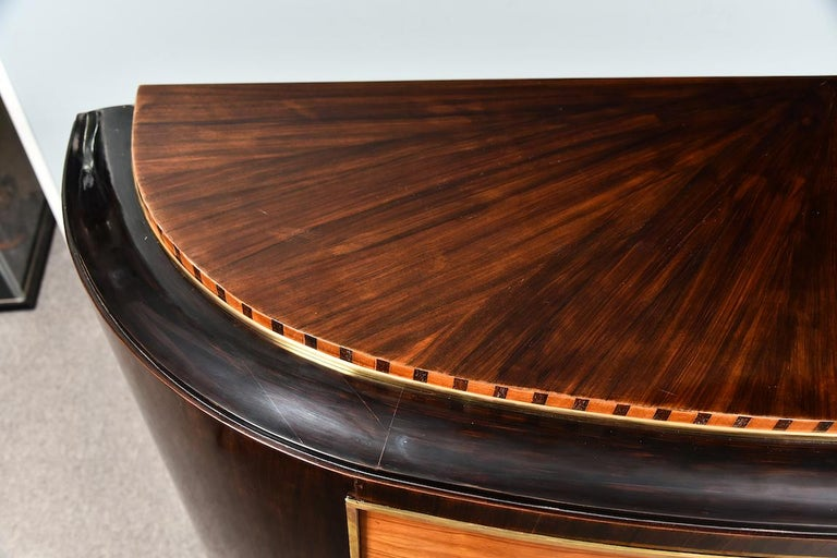 Mid-20th Century Art Deco French Sideboard in Walnut For Sale