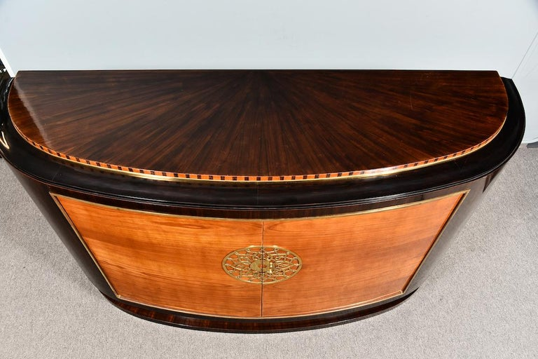 Art Deco French Sideboard in Walnut For Sale 1