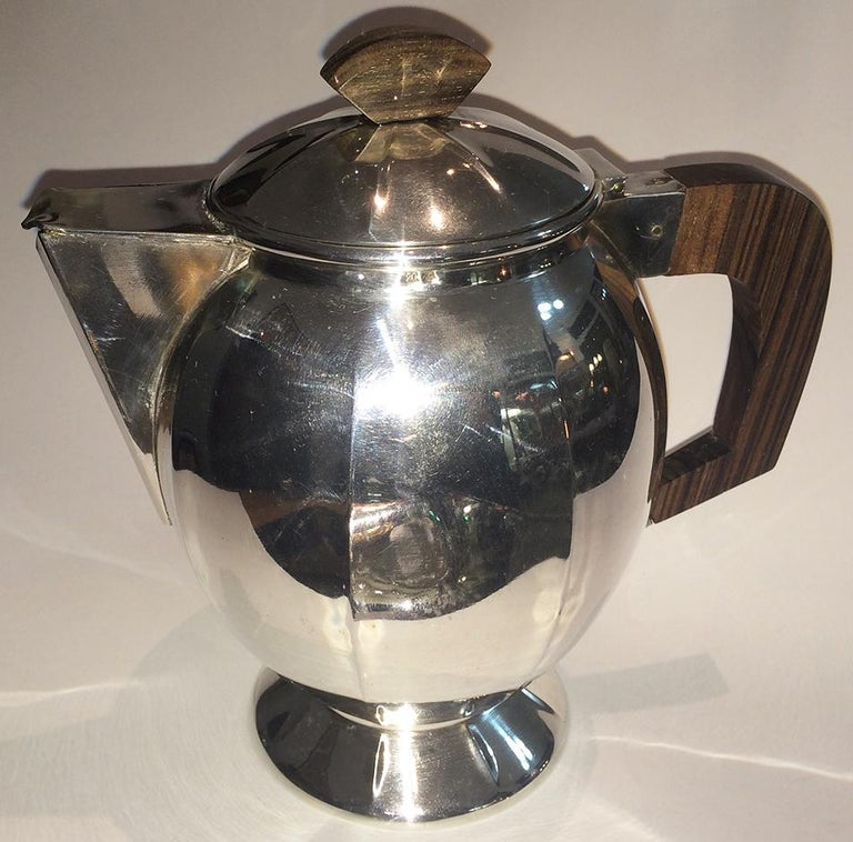 Art Deco French Silver Plate Coffee and Tea Service For Sale 2