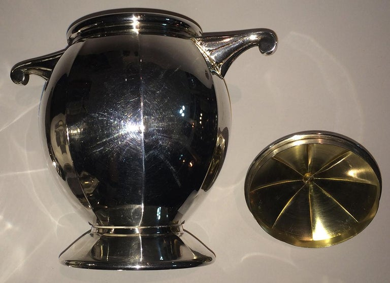 Art Deco French Silver Plate Coffee and Tea Service For Sale 3