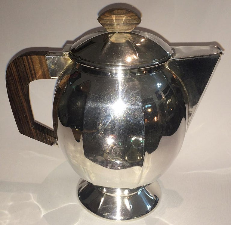 Art Deco French Silver Plate Coffee and Tea Service For Sale 5