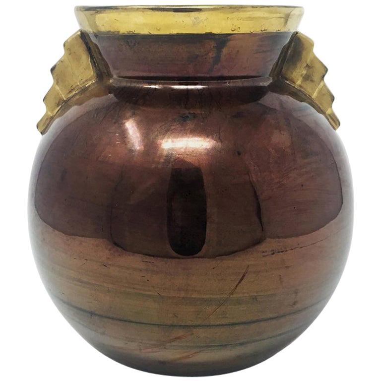 Art Deco French Vase in Ceramic, 1930s For Sale