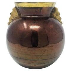 Art Deco French Vase in Ceramic, 1930s