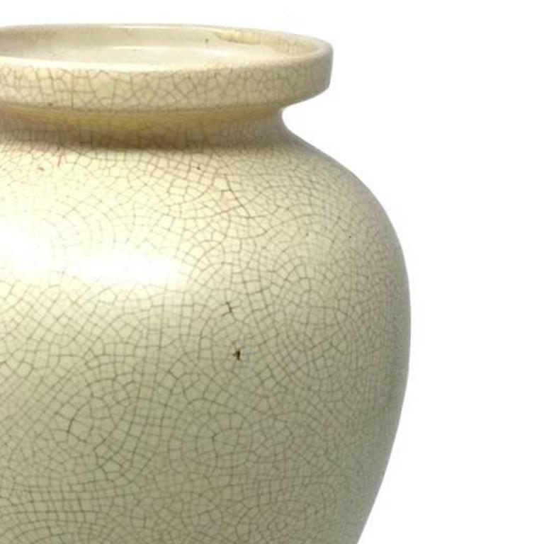 Art Deco French Vase in Craquelè, 1930s In Excellent Condition For Sale In Milan, IT