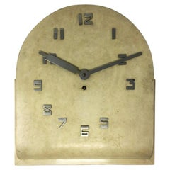 Art Deco French Wall Clock in Parchment, 1930