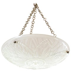Art Deco Frosted Glass Chandelier