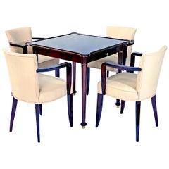 Art Deco Game Table Set by Jules Leleu