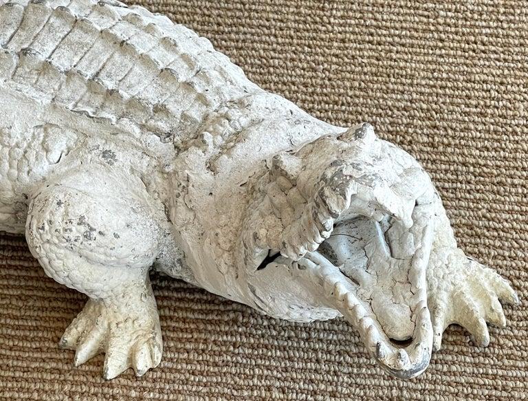 American Art Deco Garden Alligator For Sale
