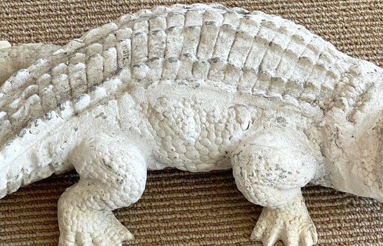Polychromed Art Deco Garden Alligator For Sale