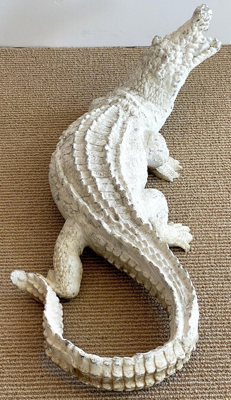 20th Century Art Deco Garden Alligator For Sale