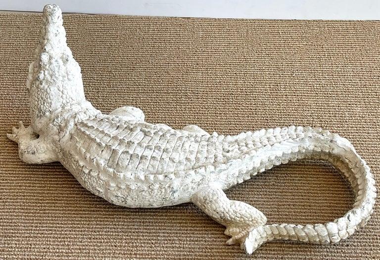 Aluminum Art Deco Garden Alligator For Sale