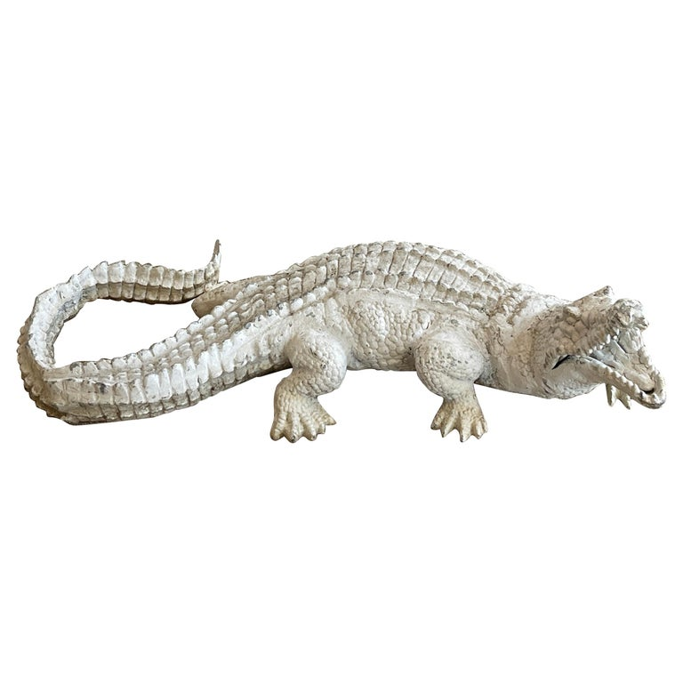 Art Deco Garden Alligator For Sale