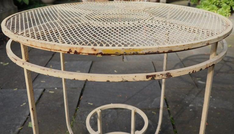 Art Deco Garden Patio Center Table by Woodard For Sale 4