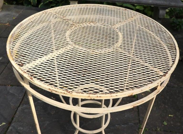 Art Deco Garden Patio Center Table by Woodard For Sale 1