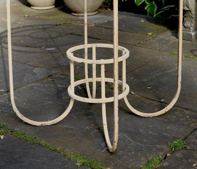 Art Deco Garden Patio Center Table by Woodard For Sale 2