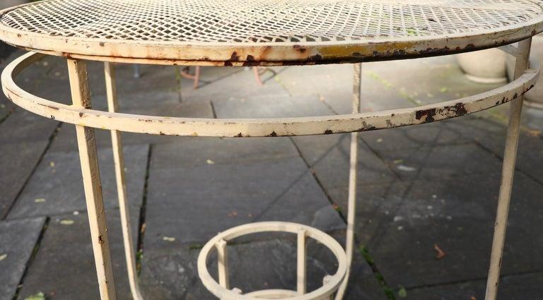 Art Deco Garden Patio Center Table by Woodard For Sale 3