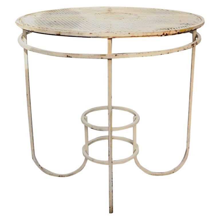 Art Deco Garden Patio Center Table by Woodard For Sale