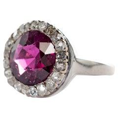 Art Deco Garnet & Diamond Ring
