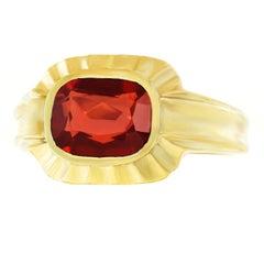 Art Deco Garnet Set Gold Ring