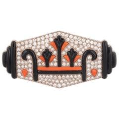 Art Deco Gem-Set Brooch
