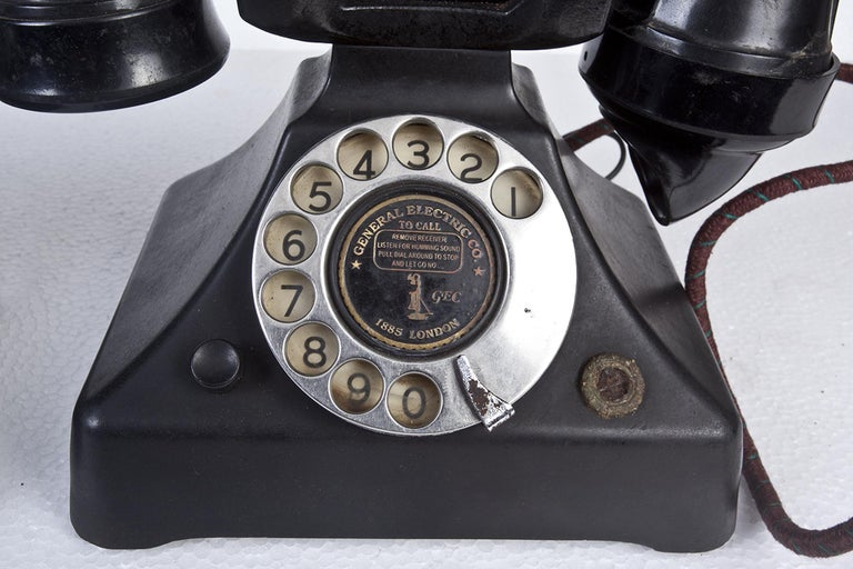 English Art Deco General Electric Bakelite Telephone For Sale