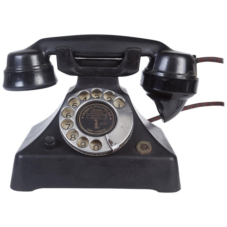 Art Deco General Electric Bakelite Telephone For Sale