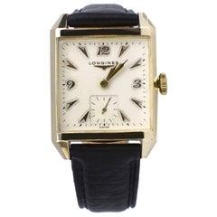 Art Deco Gentleman's 10k GF Wrist Watch by Longines, Recently Serviced, c1940's