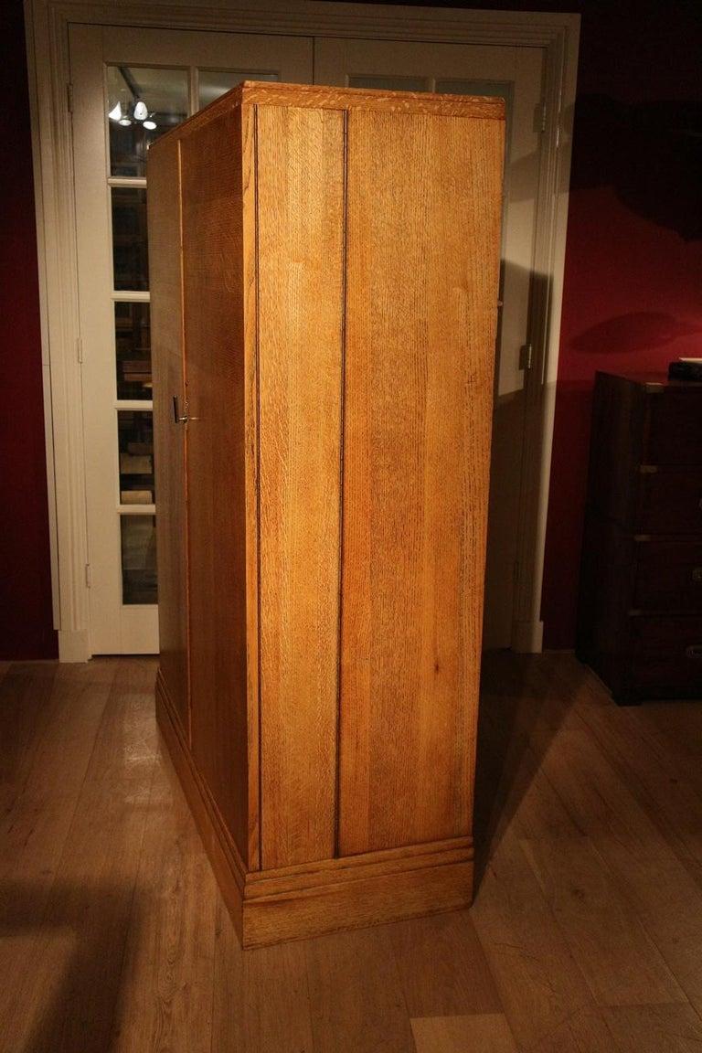 Art Deco Gentlemen Oak Compactom Wardrobe For Sale 8