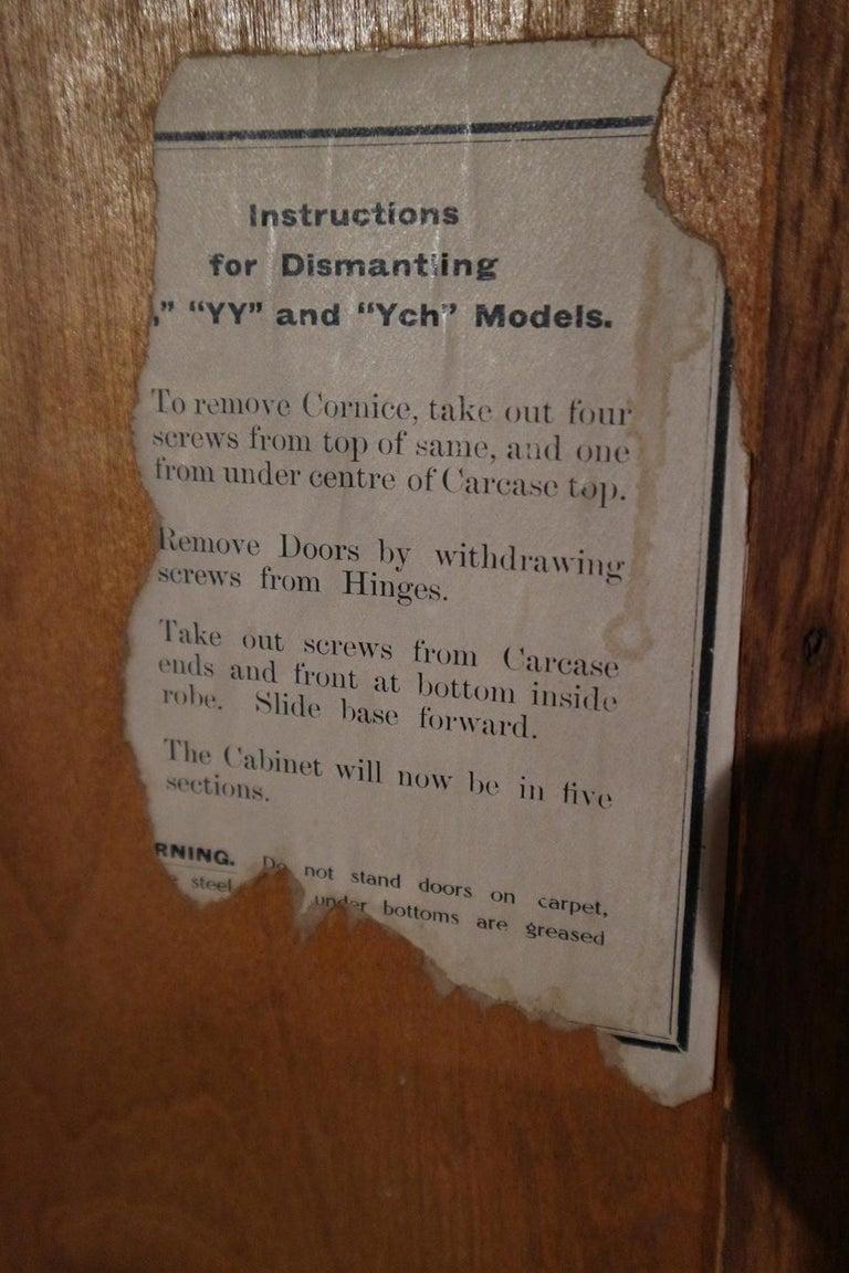 Art Deco Gentlemen Oak Compactom Wardrobe For Sale 9