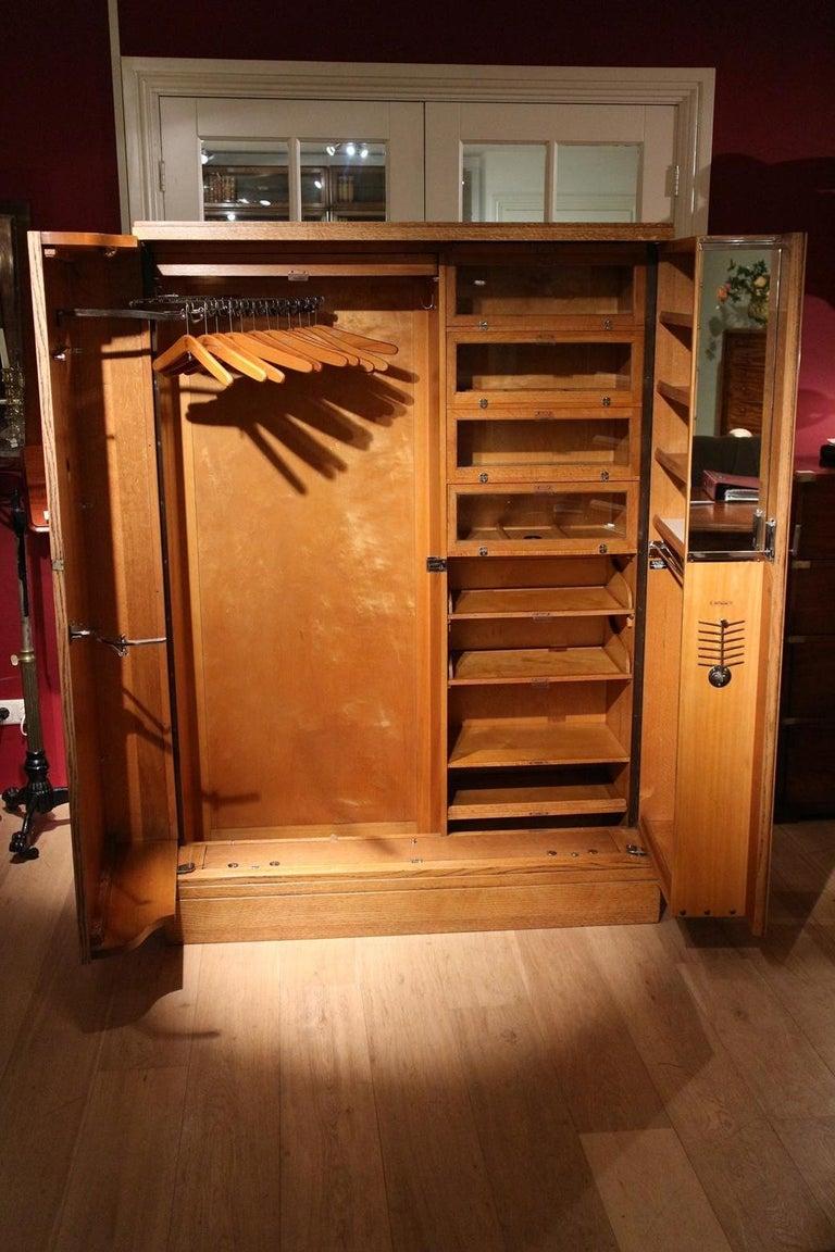 Art Deco Gentlemen Oak Compactom Wardrobe For Sale 10