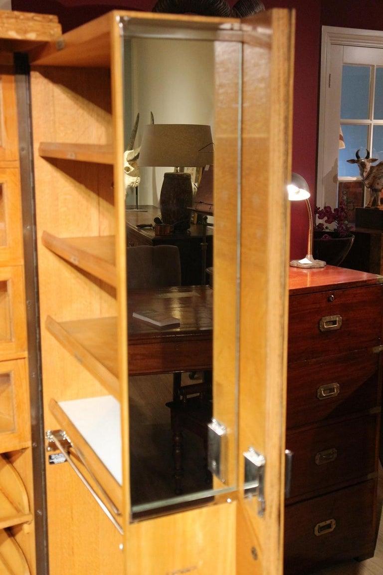 Art Deco Gentlemen Oak Compactom Wardrobe In Good Condition For Sale In Eindhoven, NL