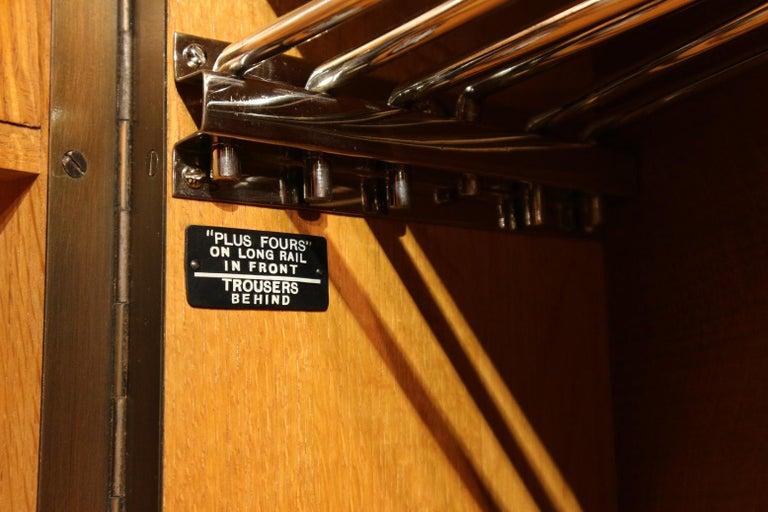 Early 20th Century Art Deco Gentlemen Oak Compactom Wardrobe For Sale