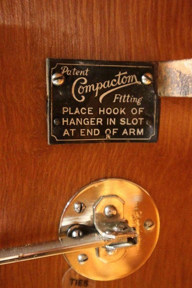 Art Deco Gentlemen Oak Compactom Wardrobe For Sale 4