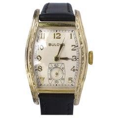 Art Deco Gents 10k Rolled Gold Bulova Watch, c1939, Newly Serviced