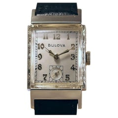 Art Deco Gents 10k Rolled Gold Wristwatch, c1949, Fully Serviced