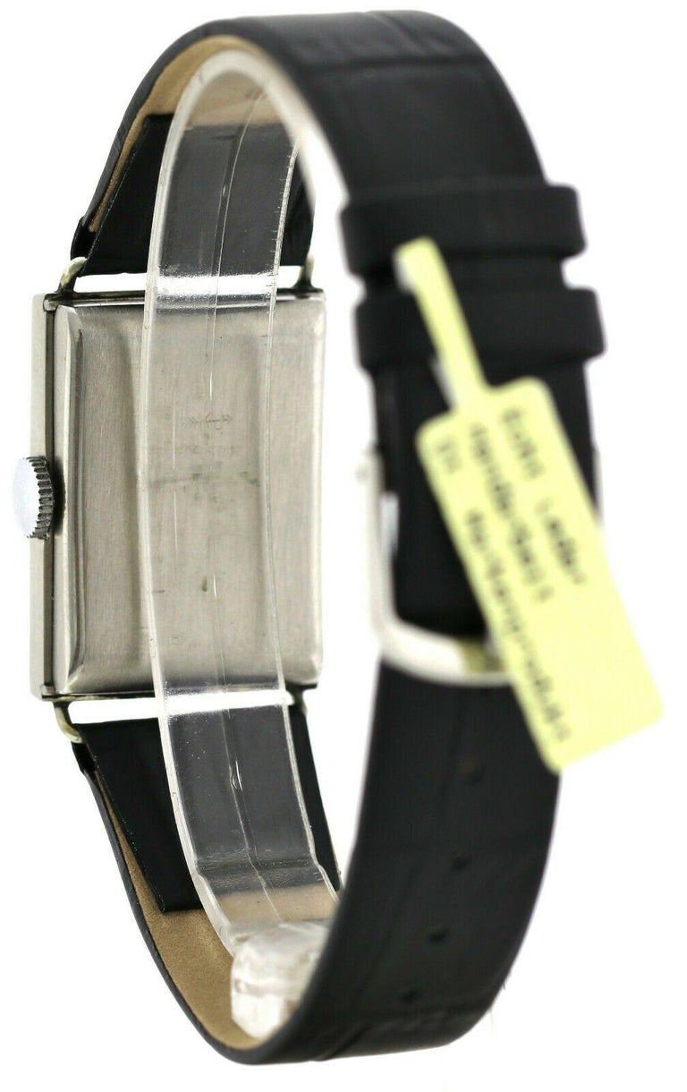 Art Deco Gents Chrome Tank Wristwatch, Never Used, Newly Serviced, 1930 For Sale 7