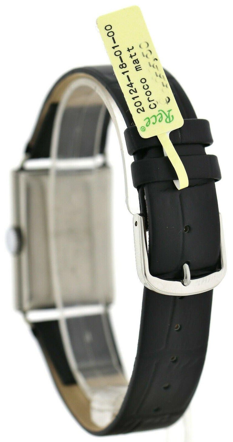 Art Deco Gents Chrome Tank Wristwatch, Never Used, Newly Serviced, 1930 For Sale 2