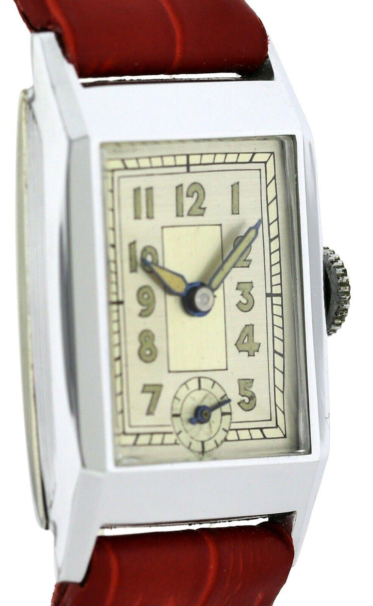 Never worn this timepiece has been kept in a drawer for several dozen years, these watches were found in a factory in Berlin buried away and only brought to light 80 odd years later, in fact not until April of this year! The factory we are told